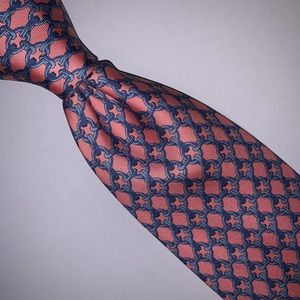 Classic Spring Hermès Pink and Blue Chain Link Tie